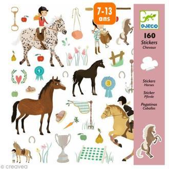 Djeco Petits cadeaux - Stickers - Les chevaux