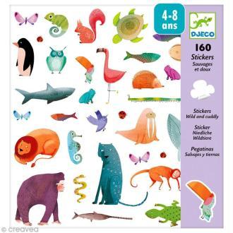 Djeco Petits cadeaux - Stickers - Sauvages et doux