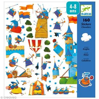 Djeco Petits cadeaux - Stickers - Chevaliers