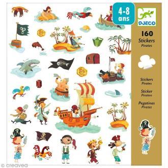 Djeco Petits cadeaux - Stickers - Pirates