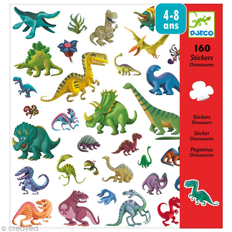djeco petits cadeaux stickers dinosaures jeux cr atifs de 2 5 ans creavea. Black Bedroom Furniture Sets. Home Design Ideas