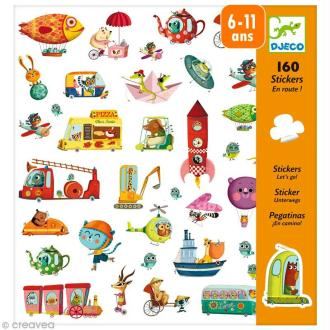 Djeco Petits cadeaux - Stickers - En route