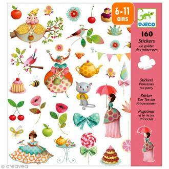 Djeco Petits cadeaux - Stickers - Le goûter des princesses