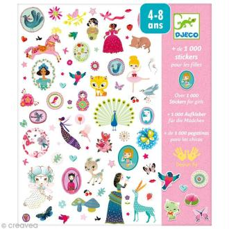 Djeco Petits cadeaux - Stickers - 1000 stickers fille