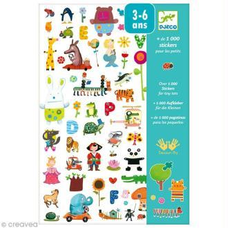 Djeco Petits cadeaux - Stickers - 1000 stickers pour les petits
