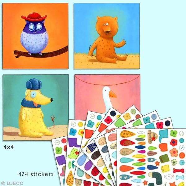 Djeco Petits cadeaux - Créer avec des stickers - Animaux - Photo n°2