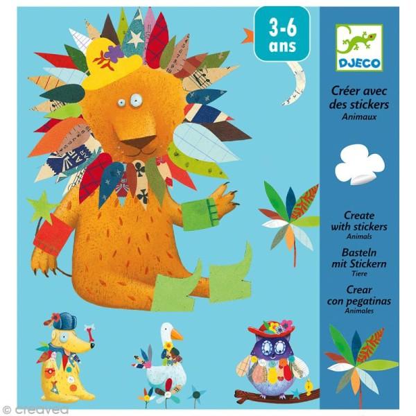 Djeco Petits cadeaux - Créer avec des stickers - Animaux - Photo n°1