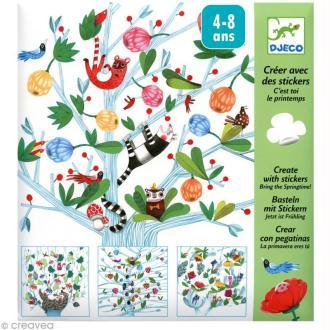 Djeco Petits cadeaux - Créer avec des stickers - C'est toi le printemps