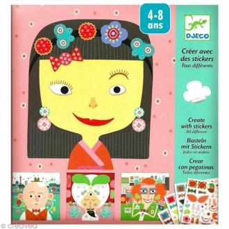 Djeco Petits cadeaux - Créer avec des stickers - Tous différents