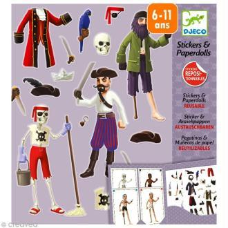 Djeco Petits cadeaux - Stickers & Paper dolls - Les pirates
