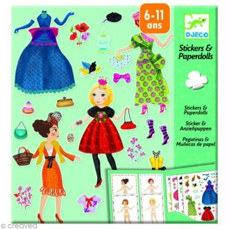 Djeco Petits cadeaux - Stickers & Paper dolls - Trop mode