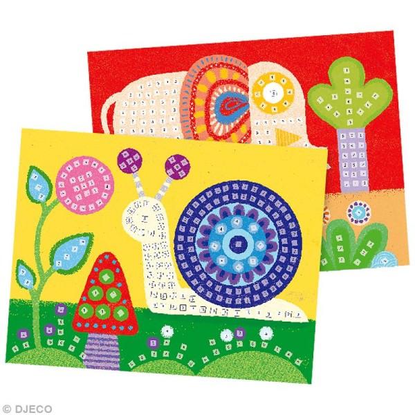 Djeco Petits cadeaux - Mosaïque - Eléphant et escargot - Photo n°2