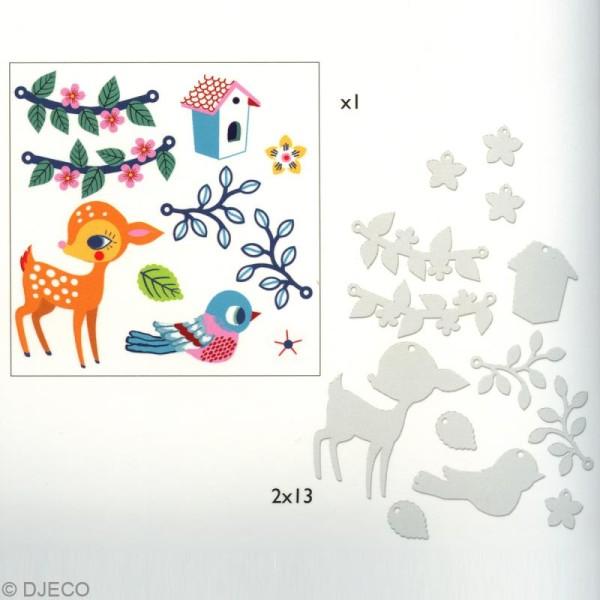 Djeco Petits cadeaux - Plastique magique - Le faon et l'oiseau - Photo n°3