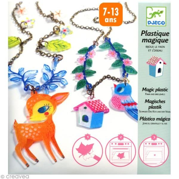 Djeco Petits cadeaux - Plastique magique - Le faon et l'oiseau - Photo n°1