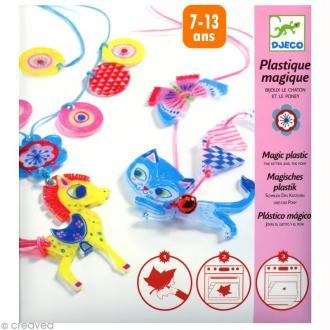 Djeco Petits cadeaux - Plastique magique - Chaton et poney