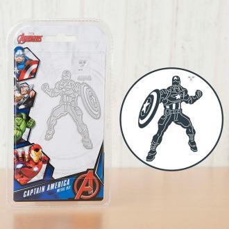 Matrice de découpe et tampon inclus (visage) Captain America Advengers Marvel