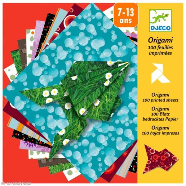 Djeco Petits cadeaux - Origami - 80 papiers imprimés - Photo n°1