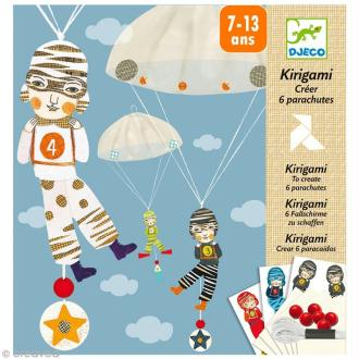 Djeco Petits cadeaux - Kirigami - Parachutes - L'équipe des garçons