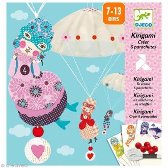 Djeco Petits cadeaux - Kirigami - Parachutes - L'équipe des filles