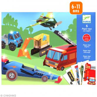 Djeco Petits cadeaux - Paper toys - Les engins