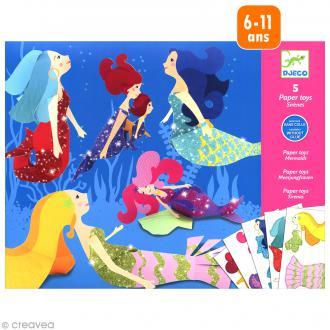 Djeco Petits cadeaux - Paper toys - Les sirènes