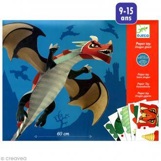 Djeco Petits cadeaux - Paper toys - Dragon géant 60 cm