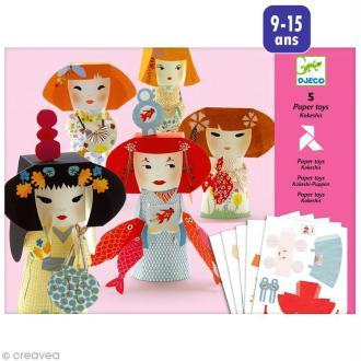 Djeco Petits cadeaux - Paper toys - Kokeshis