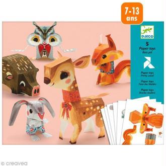 Djeco Petits cadeaux - Paper toys - Bois joli
