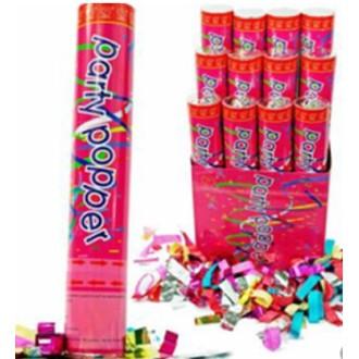 6 Canon gros confettis multicolores 30 cm