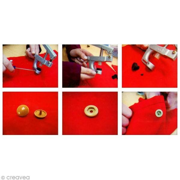 Boutons pression 12,4 mm - Résine plastique - Blanc - 20 pcs - Photo n°2