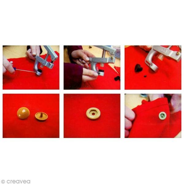 Boutons pression 12,4 mm - Résine plastique - Gris - 30 pcs - Photo n°2