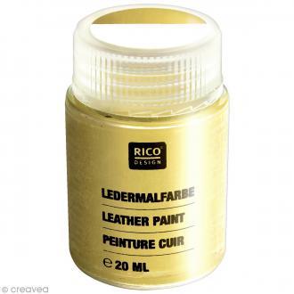 Peinture cuir - Or - 20 ml