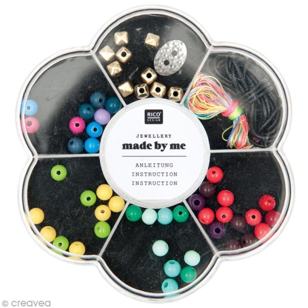 Kit perles bracelet Wrap - Multicolore - 53 pcs - Photo n°1