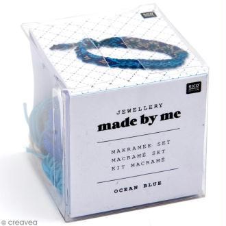 Kit macramé bijou - Ocean blue (Bleu)