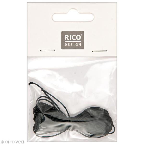 Fil élastique - Noir - 1 mm x 5 m - Photo n°1