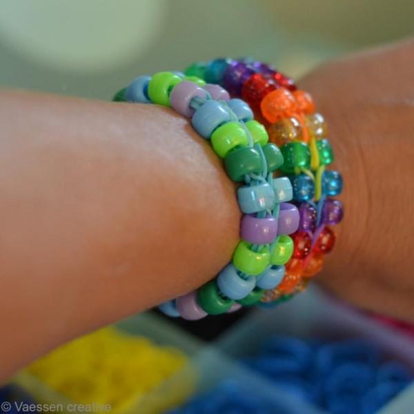 Kit perles bracelet loops - assortiment - 144 pcs - Photo n°2