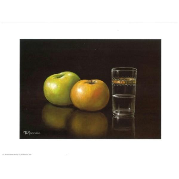 Image 3D - astro 346 - 24x30 - Pommes et verre d'eau - Photo n°1