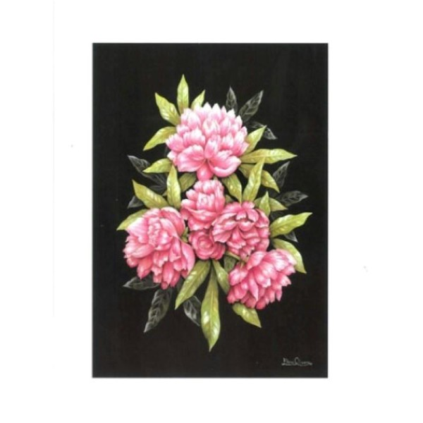 Image 3D - astro 404 - 24x30 - Fleurs roses - Photo n°1