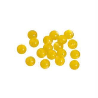 100 Perles en Résine Rond Jaune 6mm