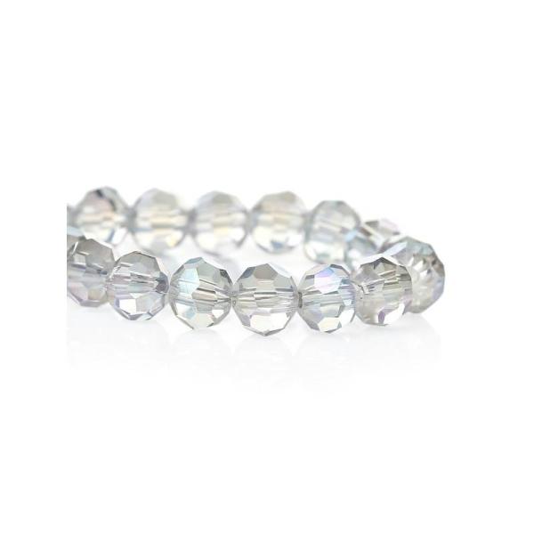 e302285ed8e 100 Perles Cristal en Verre Rond Couleur Transparent à Facettes 6mm - Photo  n°1