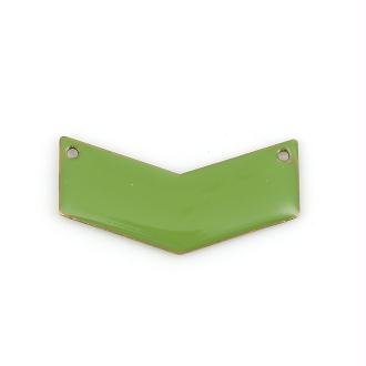 5 Connecteurs Sequins émaillés Chevron 30mm Couleur Vert