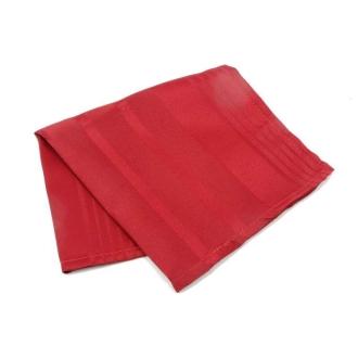 6 Serviette de table polyester rayée ton sur ton rouge