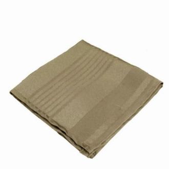 6 Serviettes de table polyester rayée ton sur ton taupe