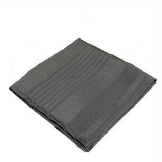 6 Serviettes de table polyester gris anthracite rayée ton sur ton