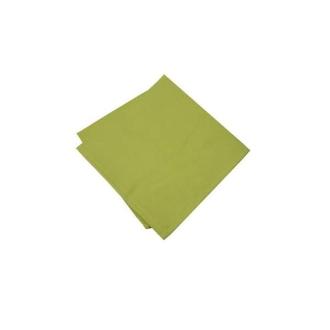 6 Serviette sde table polyester unies vert anis
