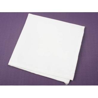 6 Serviettes de table polyester unies blanc