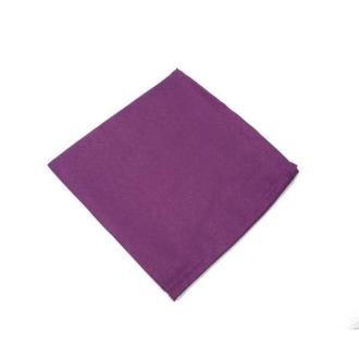 6 Serviettes de table polyester unies violette