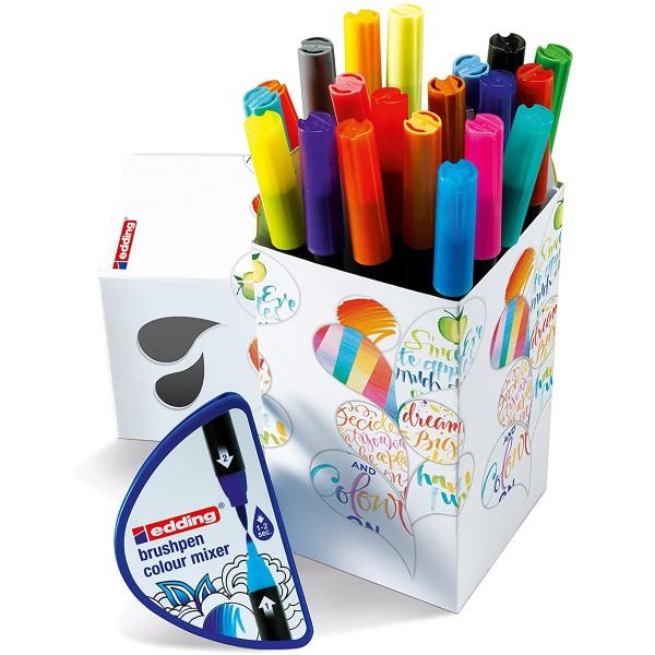 Coffret Feutres pinceau Edding - Colour Happy - 21 pcs - Photo n°2