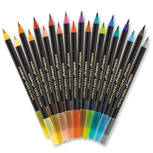 Coffret Feutres pinceau Edding - Colour Happy - 21 pcs - Photo n°3
