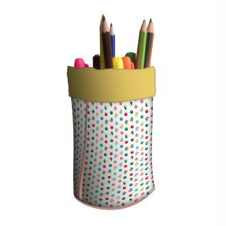 Pot à crayons LE COQ EN PAPIER Baies roses